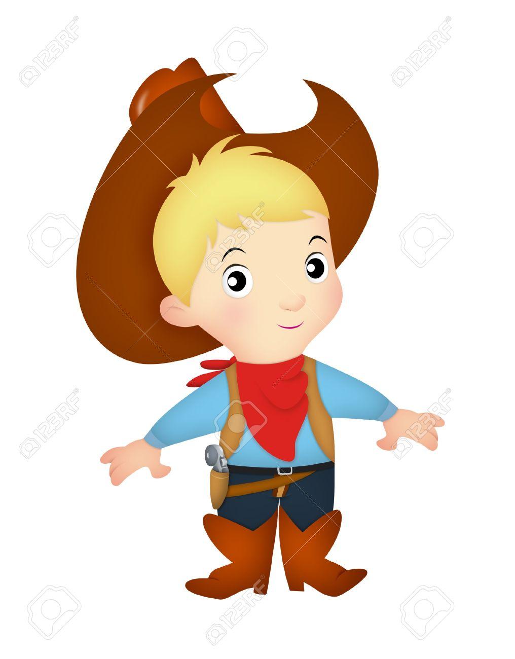 1be45b9f5eb Boy wearing western cowboy costume Stock Photo - 20900086