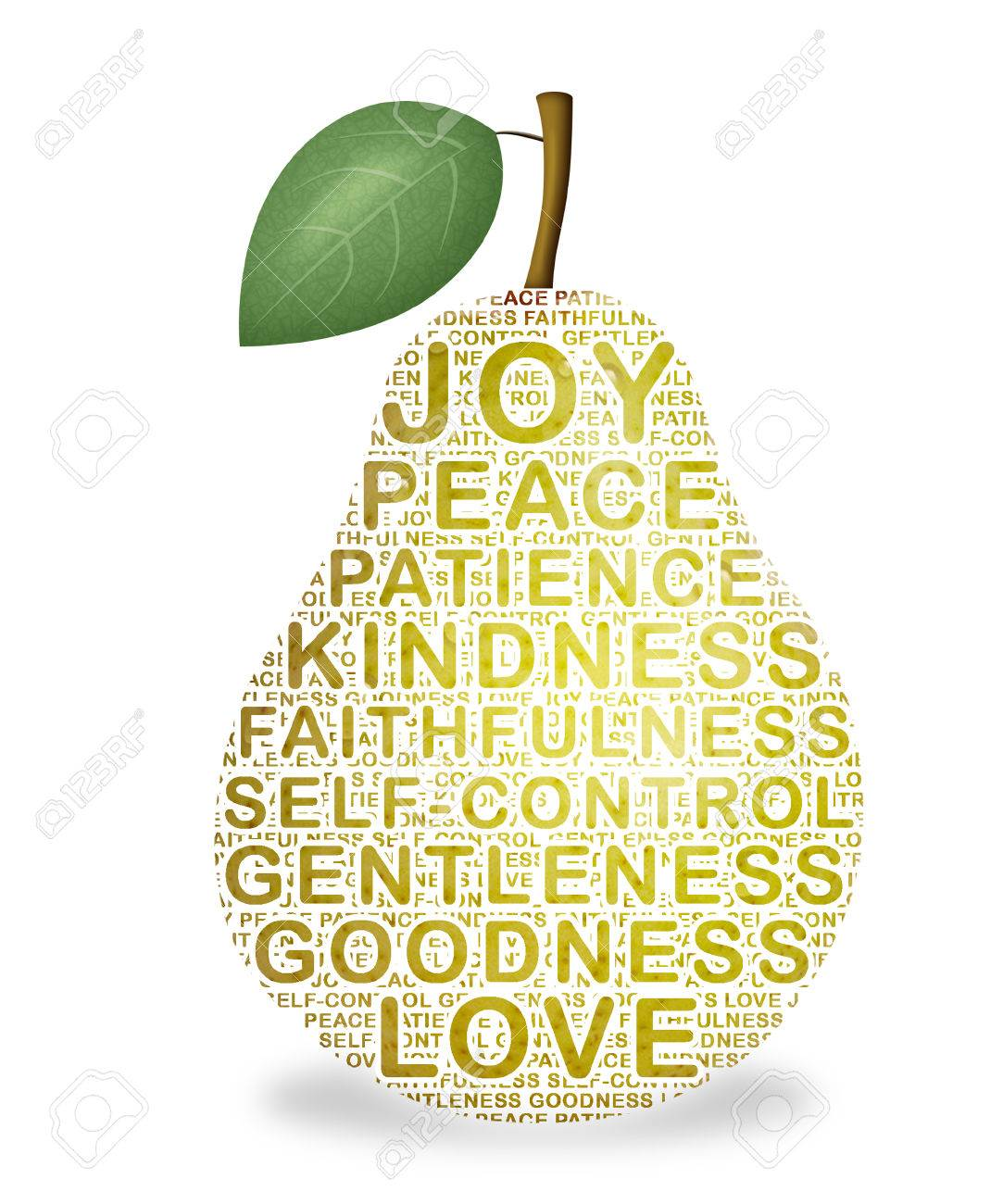 Pear representing the fruit of the Holy Spirit. - 34734554