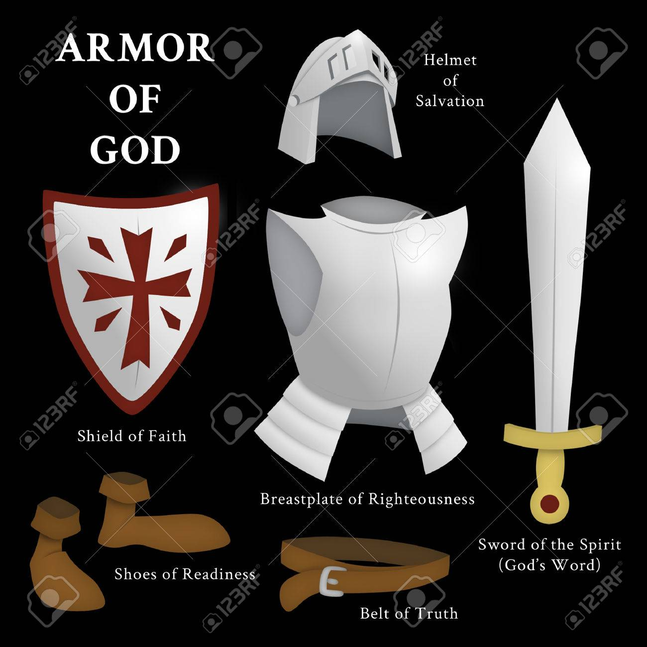 Armor Of God Ephesians 6 13 17 Stock Photo Picture And Royalty