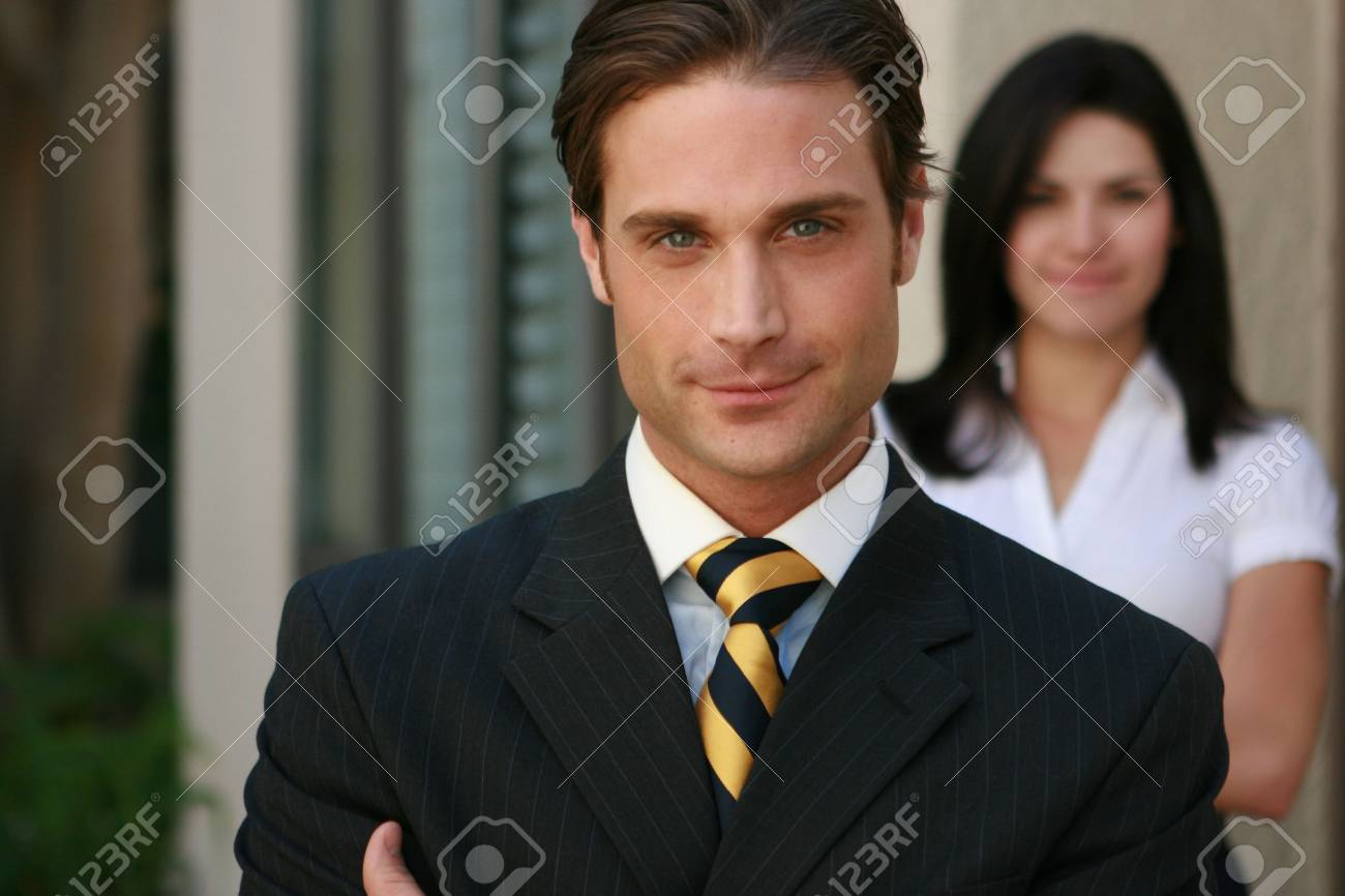 Businessman and Assistant - (IMG_2628) Stock Photo - 4626854