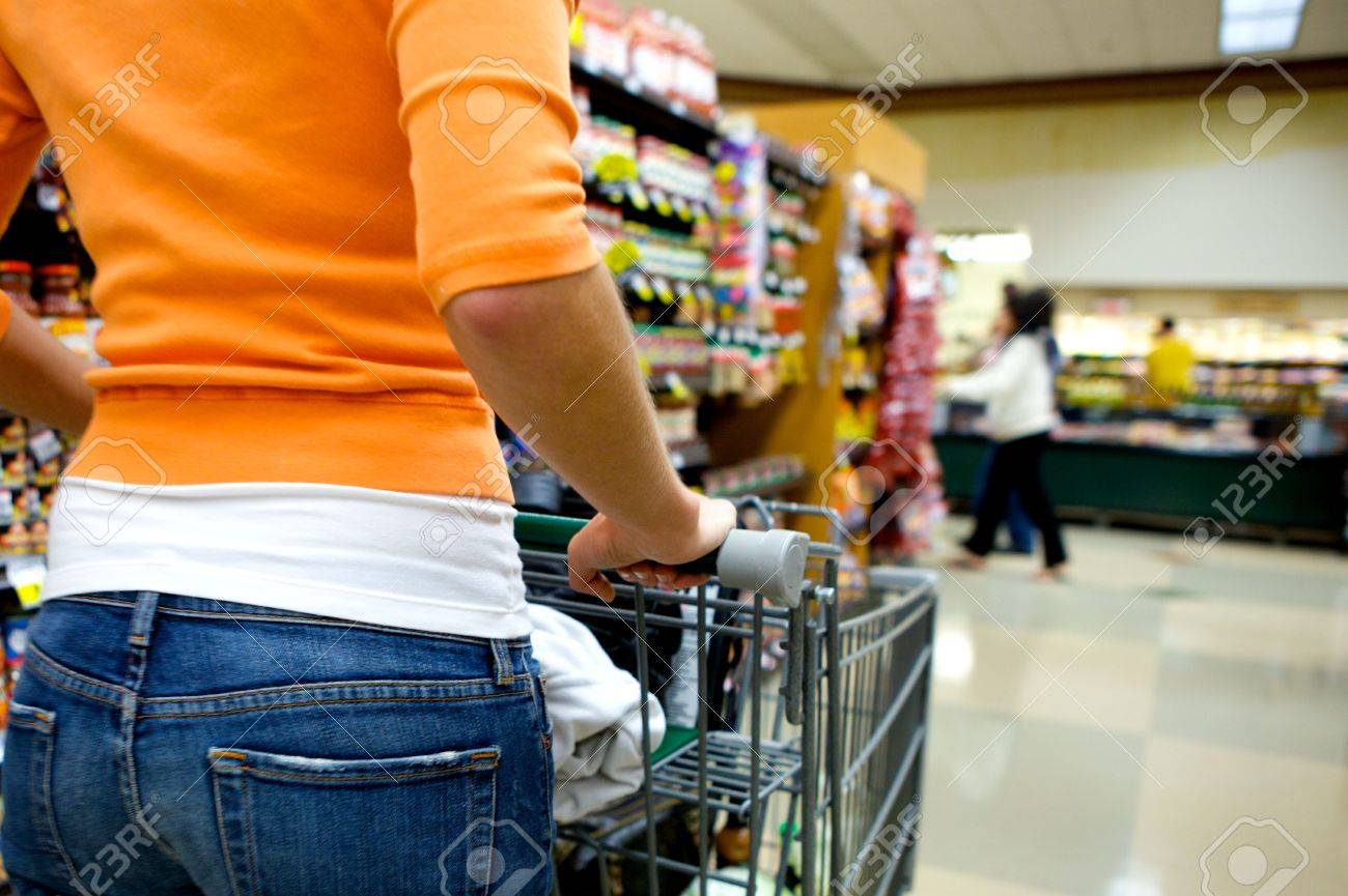 Supermarket Shopper Stock Photo - 4975450