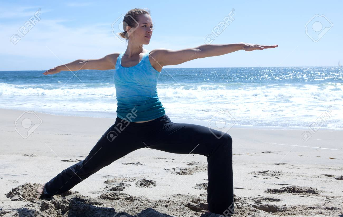Yoga on the Beach Stock Photo - 5014187