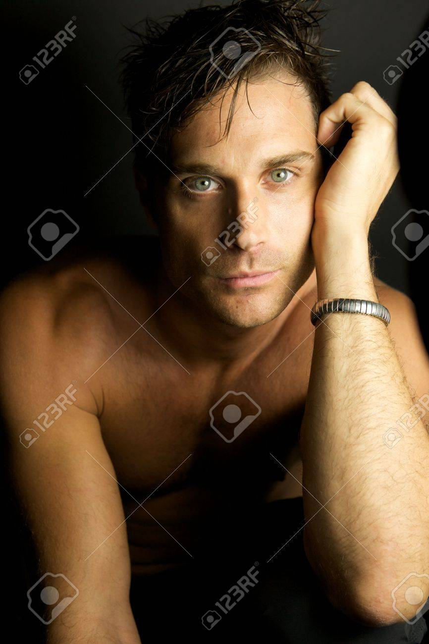 An Edgy Youth with no shirt on Stock Photo - 5496502