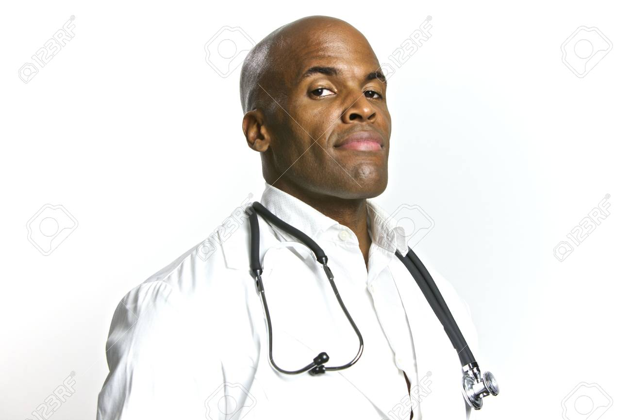 A Young African American Doctor With a Stethoscope Stock Photo - 6474908