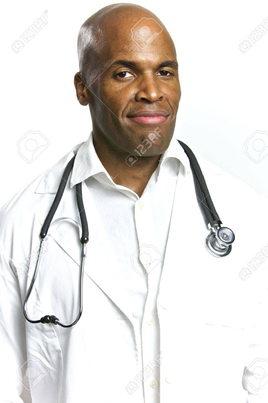 A Young African American Doctor With a Stethoscope Stock Photo - 6474926