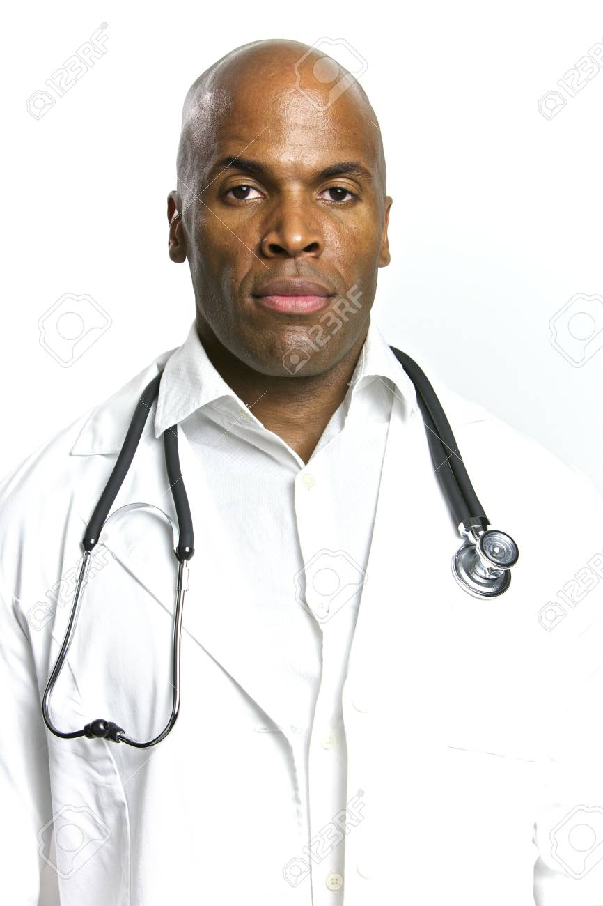 A Young African American Doctor With a Stethoscope Stock Photo - 6474934