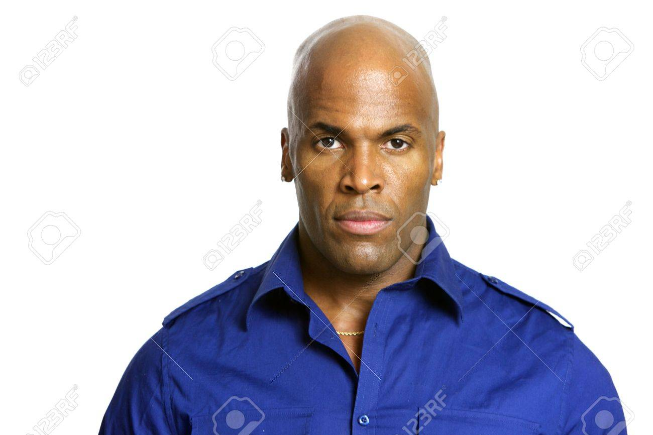 A young attractive African American Man with a Collared Shirt Stock Photo - 6474935