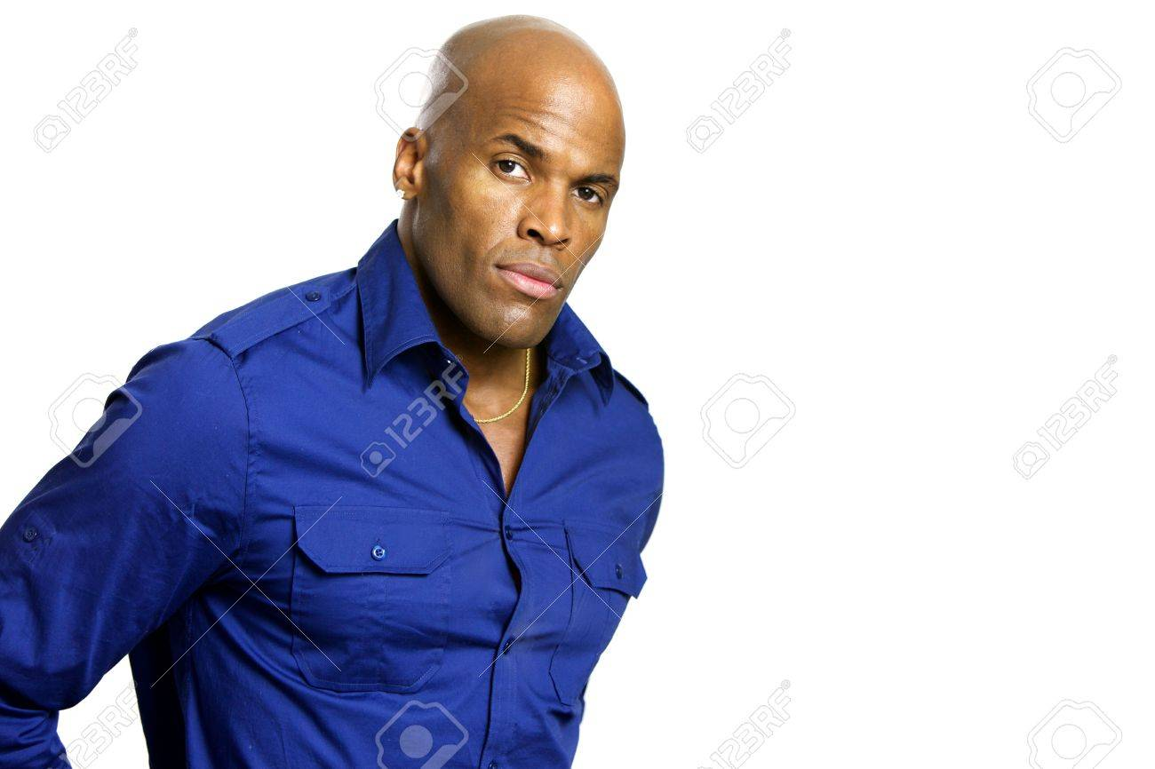 A young attractive African American Man with a Collared Shirt Stock Photo - 6474940