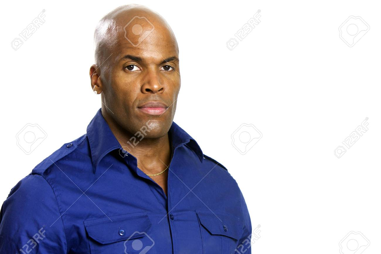 A young attractive African American Man with a Collared Shirt Stock Photo - 6474939