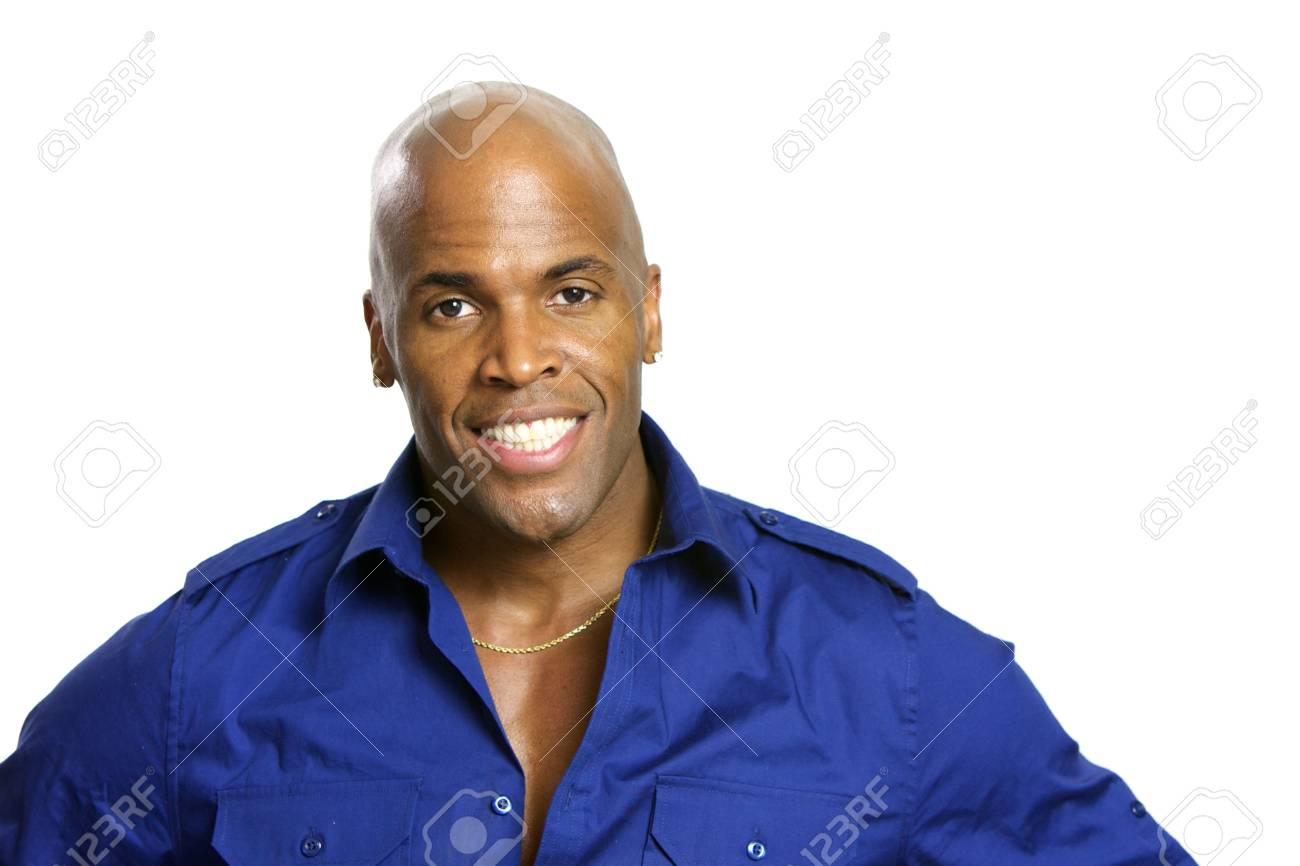 A young attractive African American Man with a Collared Shirt Stock Photo - 6474936