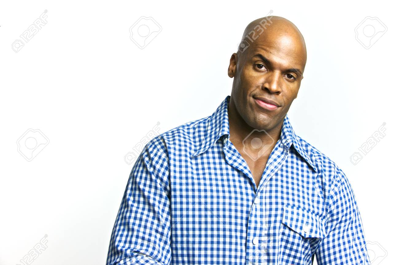 A young attractive African American Man with a Collared Shirt Stock Photo - 6474958