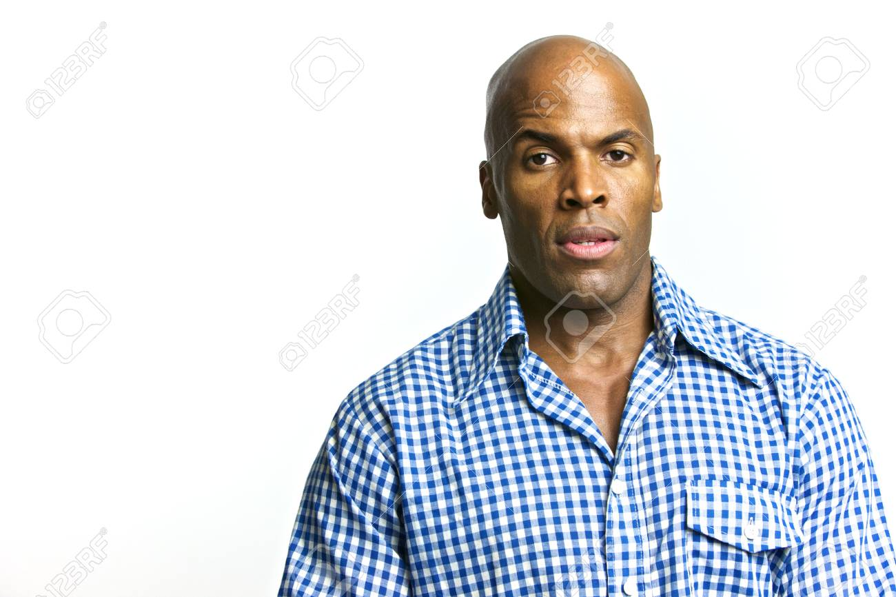 A young attractive African American Man with a Collared Shirt Stock Photo - 6474956