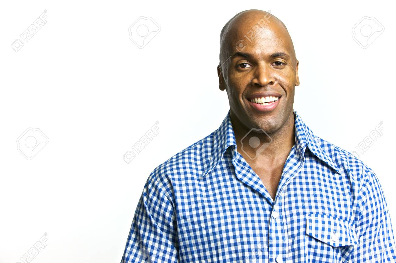 A young attractive African American Man with a Collared Shirt Stock Photo - 6474953