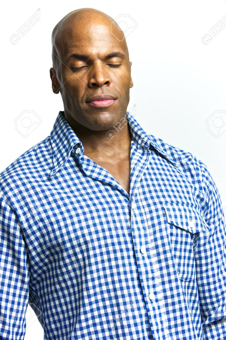 A young attractive African American Man with a Collared Shirt Stock Photo - 6474941
