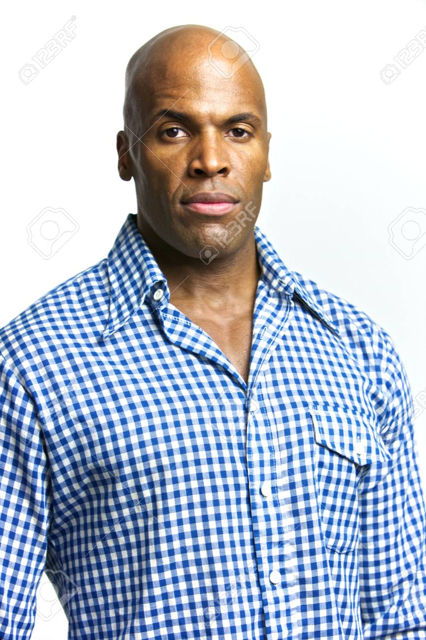 A young attractive African American Man with a Collared Shirt Stock Photo - 6474987
