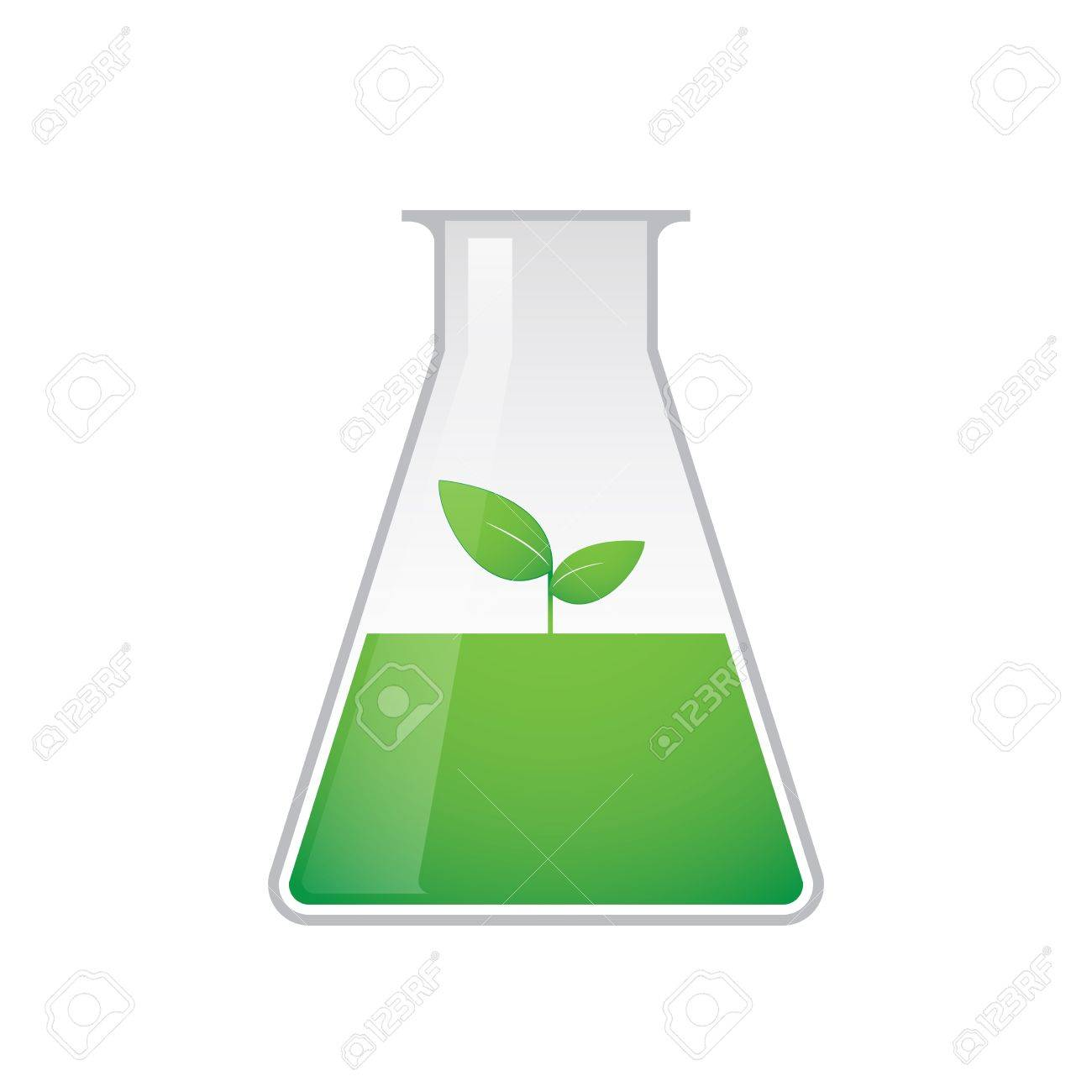 A chemical test tube with a ecology related icon Stock Vector - 21960197