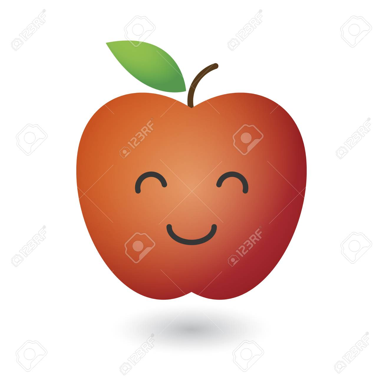 An illustration of a cute red fresh apple Stock Vector - 22272188
