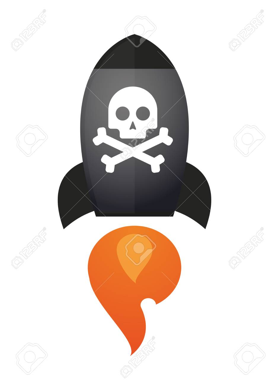 Illustration of an isolated rocket with an icon Stock Vector - 28151732