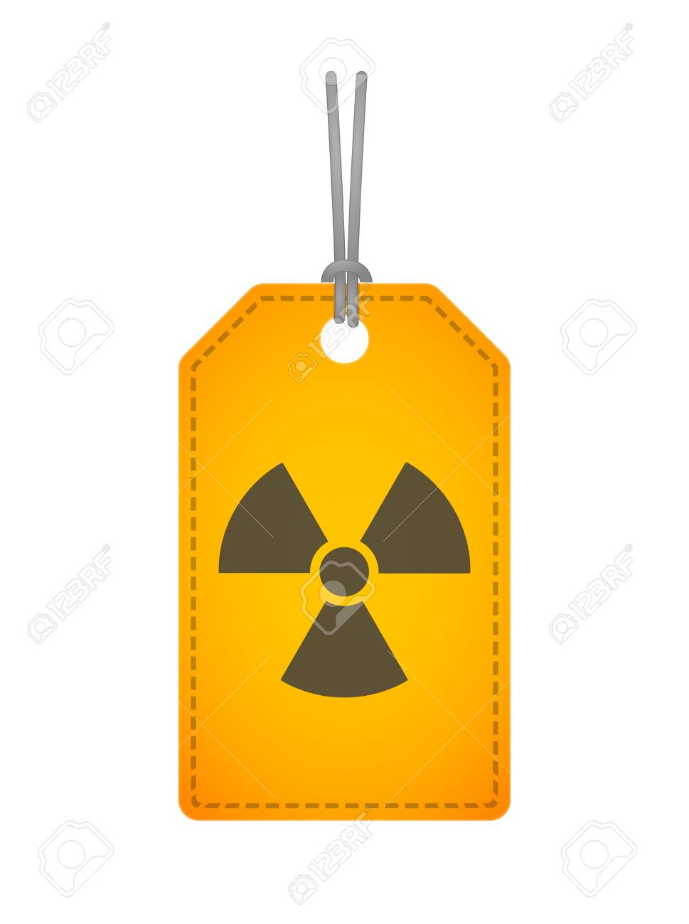 Illustration of an isolated label with an icon Stock Vector - 28900745