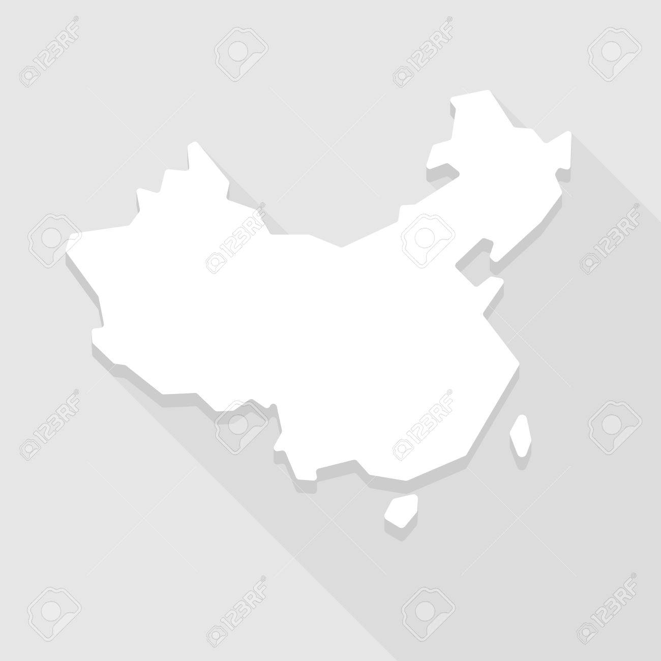 Illustration Of A Grey China Map Icon Royalty Free Cliparts
