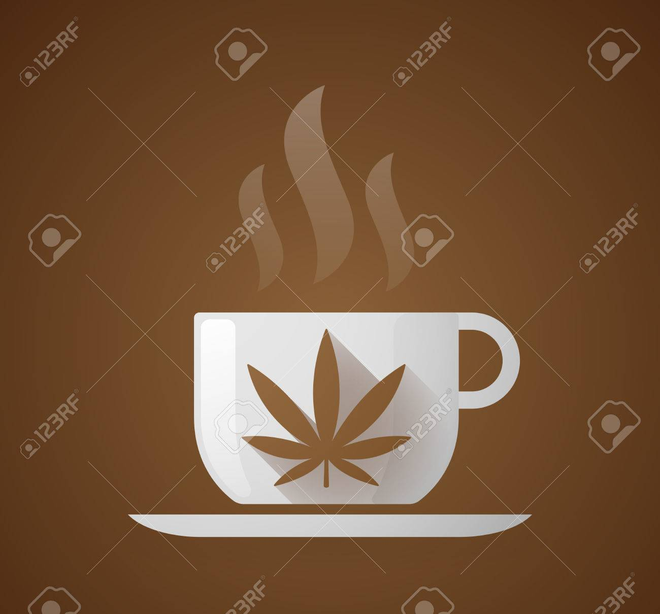 Illustration of a coffee cup with a marijuana leaf royalty free illustration of a coffee cup with a marijuana leaf stock vector 37959591 biocorpaavc