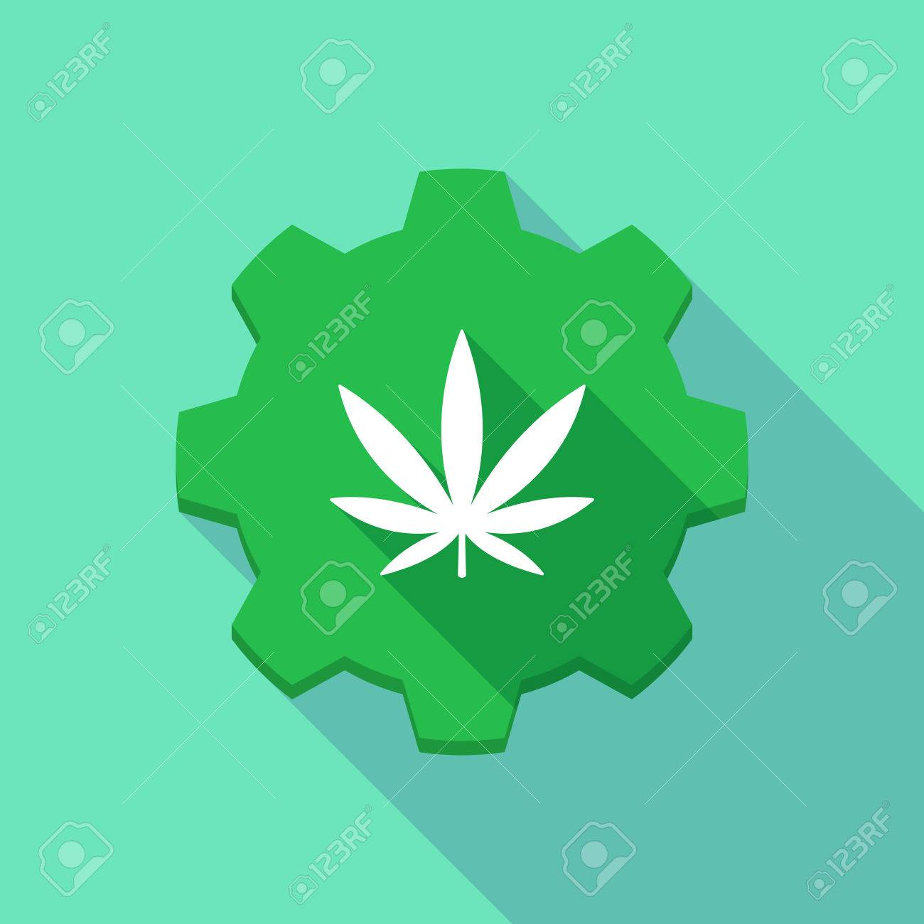 Illustration of a long shadow gear icon with a marijuana leaf illustration of a long shadow gear icon with a marijuana leaf stock vector 41360774 biocorpaavc