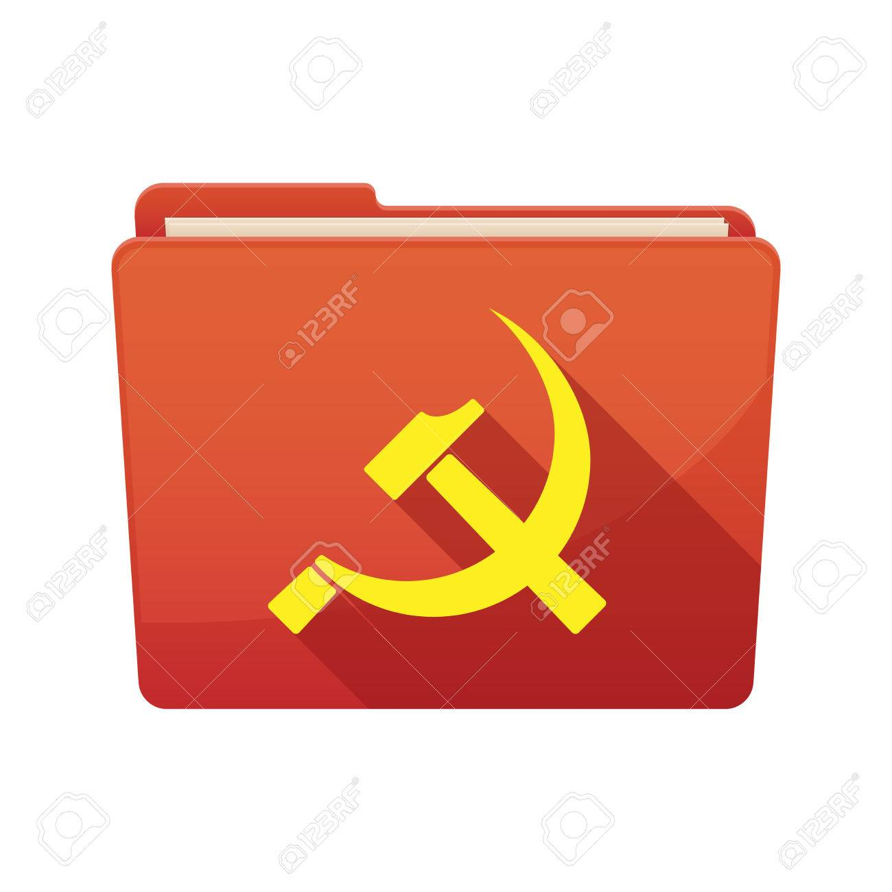 Illustration Of A Long Shadow Binder With The Communist Symbol