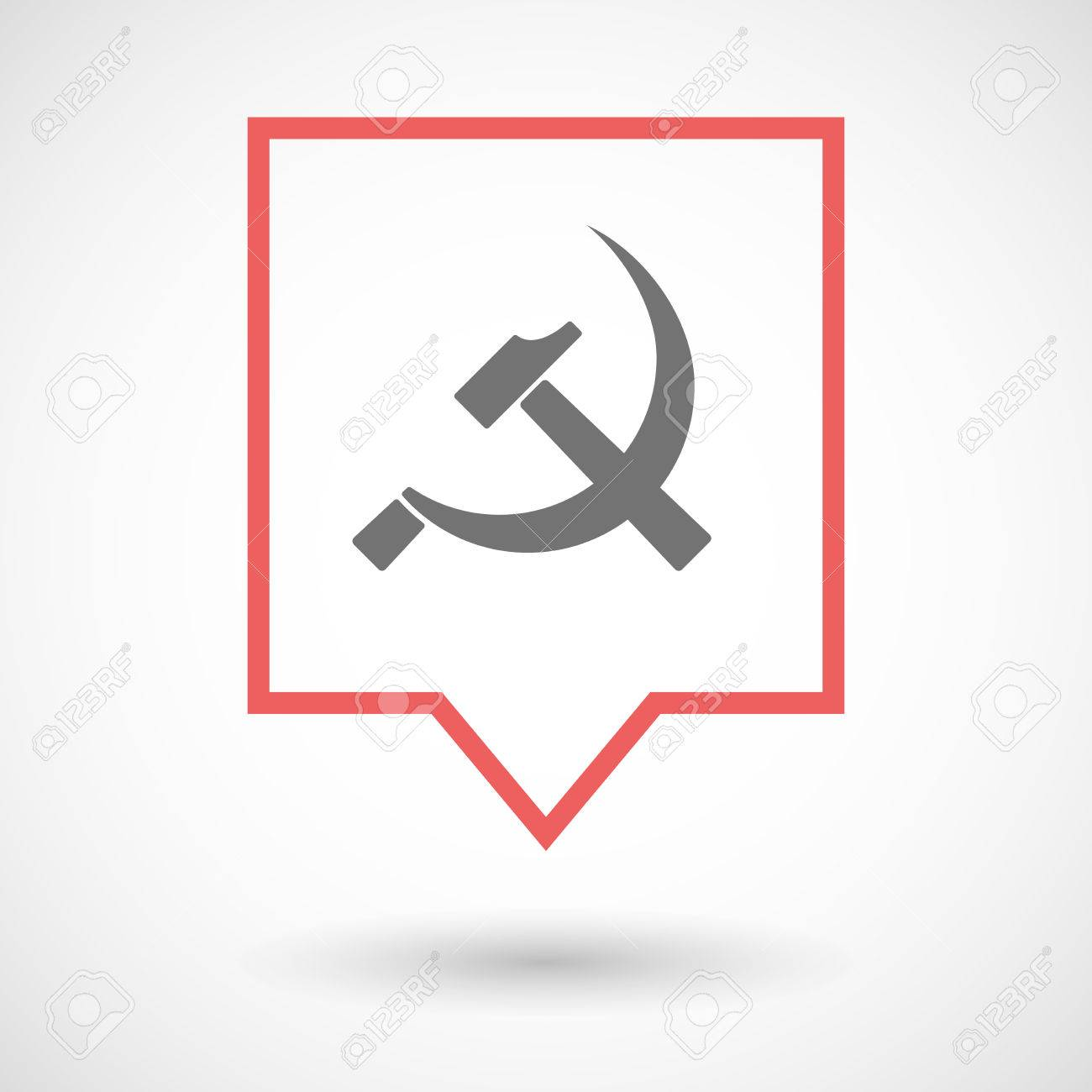 Illustration Of An Isolated Tooltip Line Art Icon With The Communist