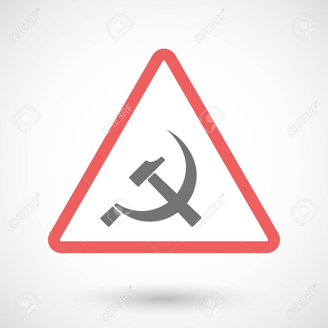 Illustration Of A Warning Signal With The Communist Symbol Royalty