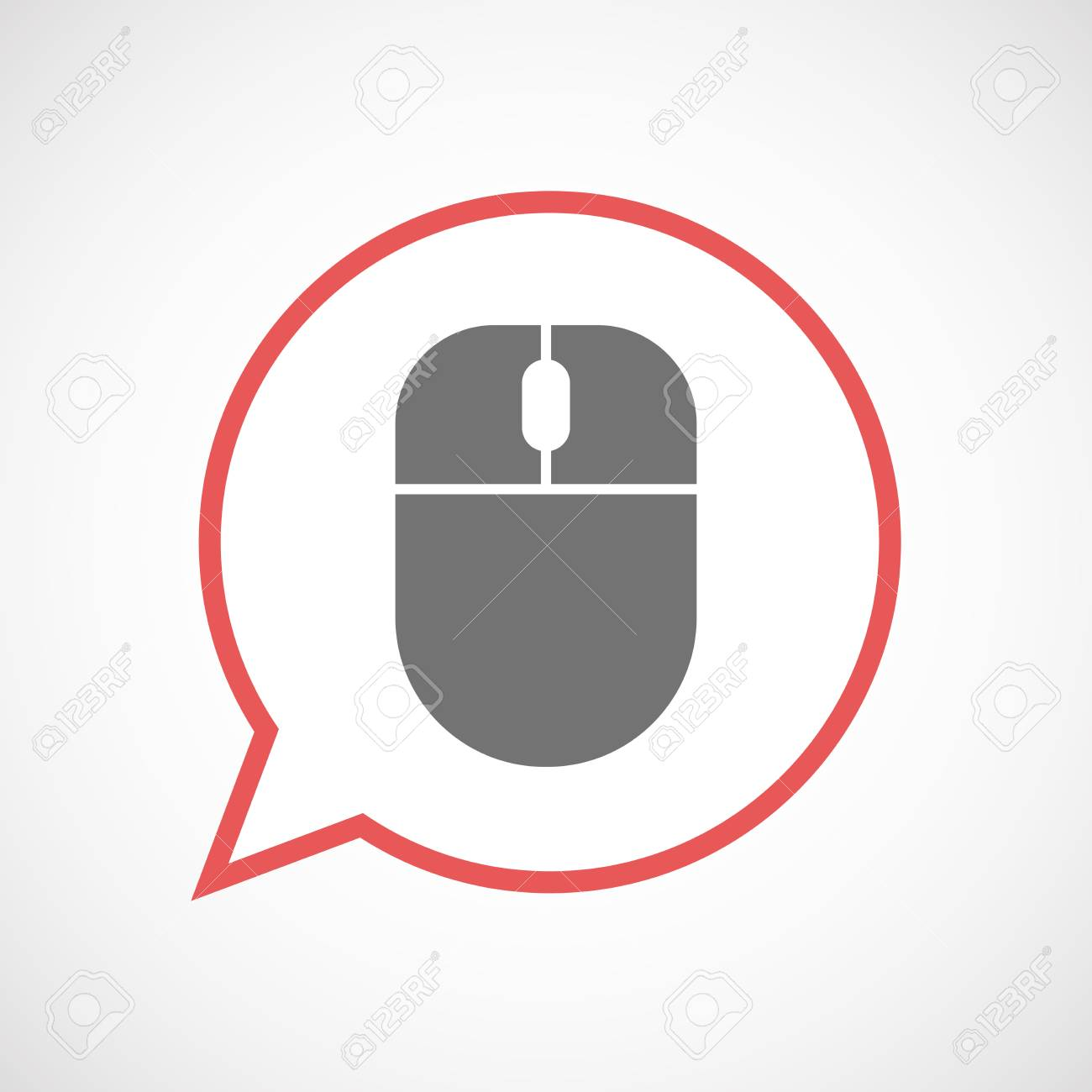 Illustration Of An Isolated Comic Balloon Line Art Icon With ...