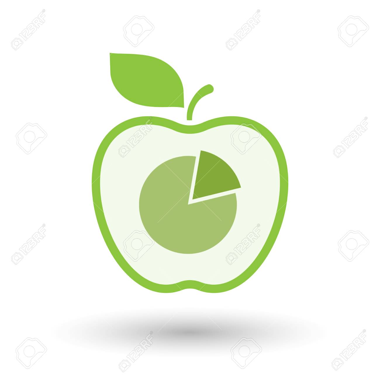 Illustration of an isolated line art apple icon with a pie chart illustration of an isolated line art apple icon with a pie chart stock vector 61859499 nvjuhfo Images