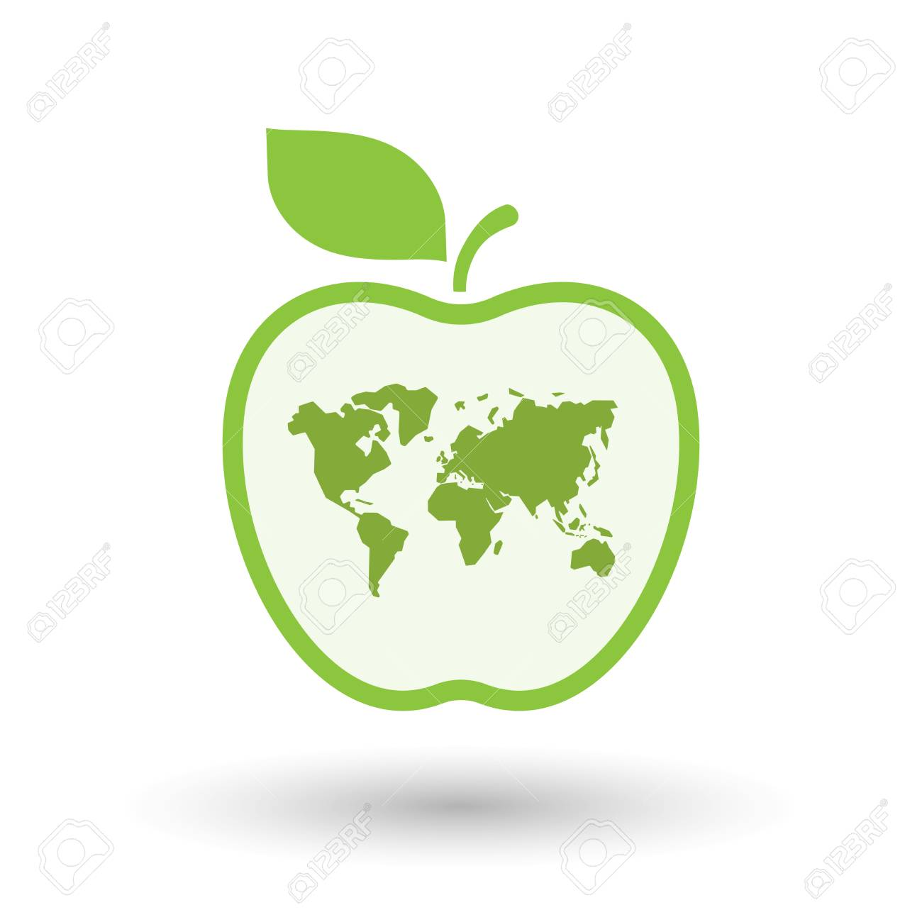 Illustration of an isolated line art apple icon with a world map illustration of an isolated line art apple icon with a world map foto de archivo gumiabroncs Choice Image