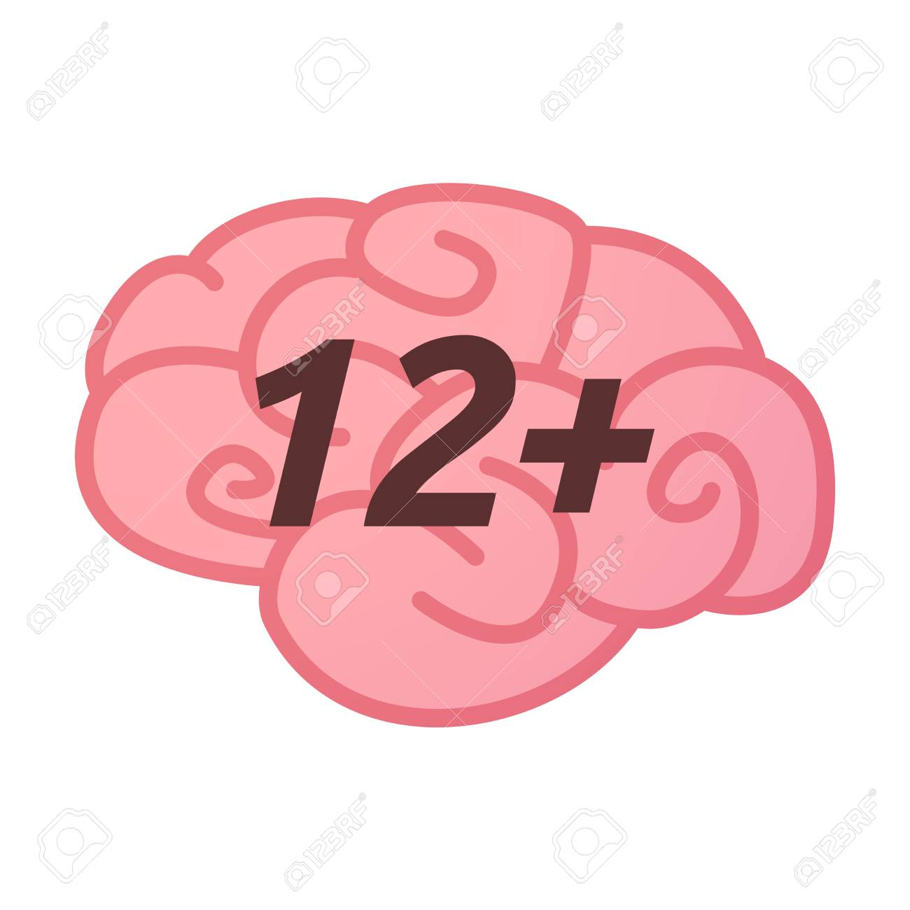 Illustration of an isolated brain icon with the text 12 royalty illustration of an isolated brain icon with the text 12 stock vector 65467607 biocorpaavc Images