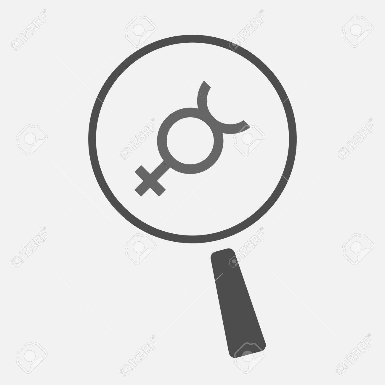 Illustration Of An Isolated Line Art Magnifier Icon With The