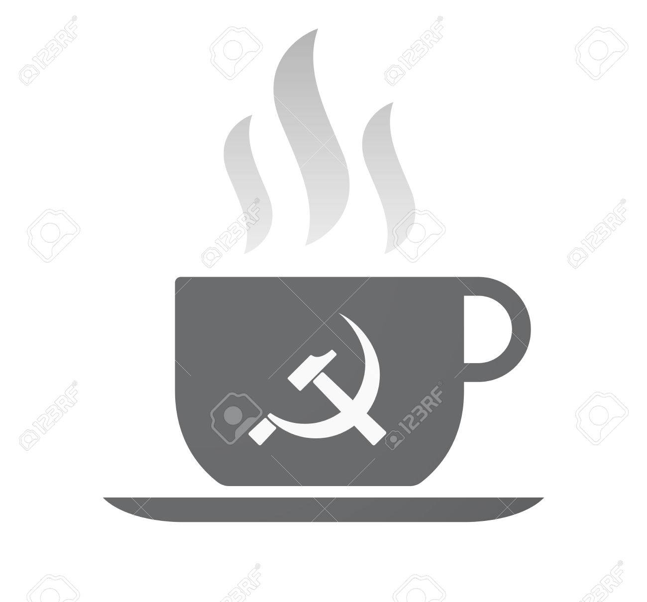 Illustration Of An Isolated Coffee Cup With The Communist Symbol