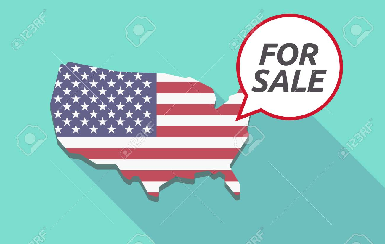 Usa Map With A Comic Balloon With The Text For Sale Royalty Free