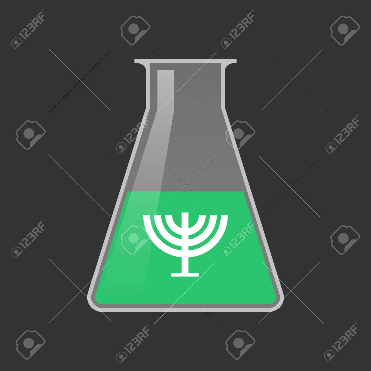 Illustration Of An Isolated Chemical Test Tube With A Chandelier ...