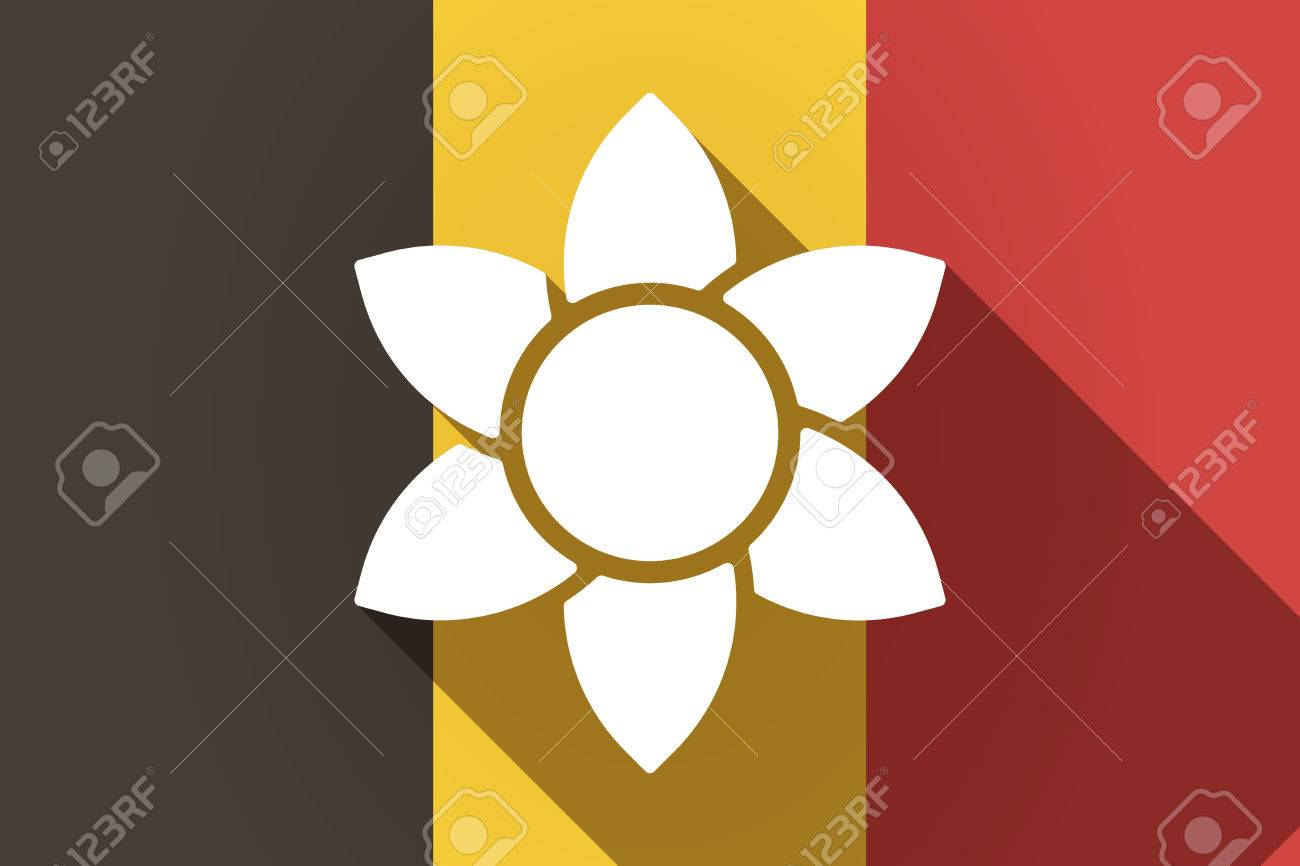 Illustration of a long shadow germany flag with a lotus flower illustration of a long shadow germany flag with a lotus flower stock vector 74732072 izmirmasajfo
