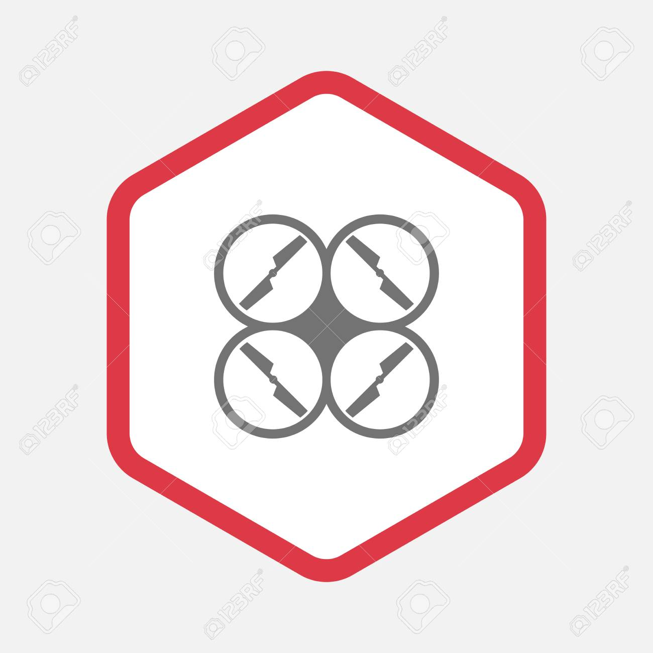 illustration of an isolated line art hexagon with a drone royalty rh 123rf com hexagon vector pattern hexagon vector png