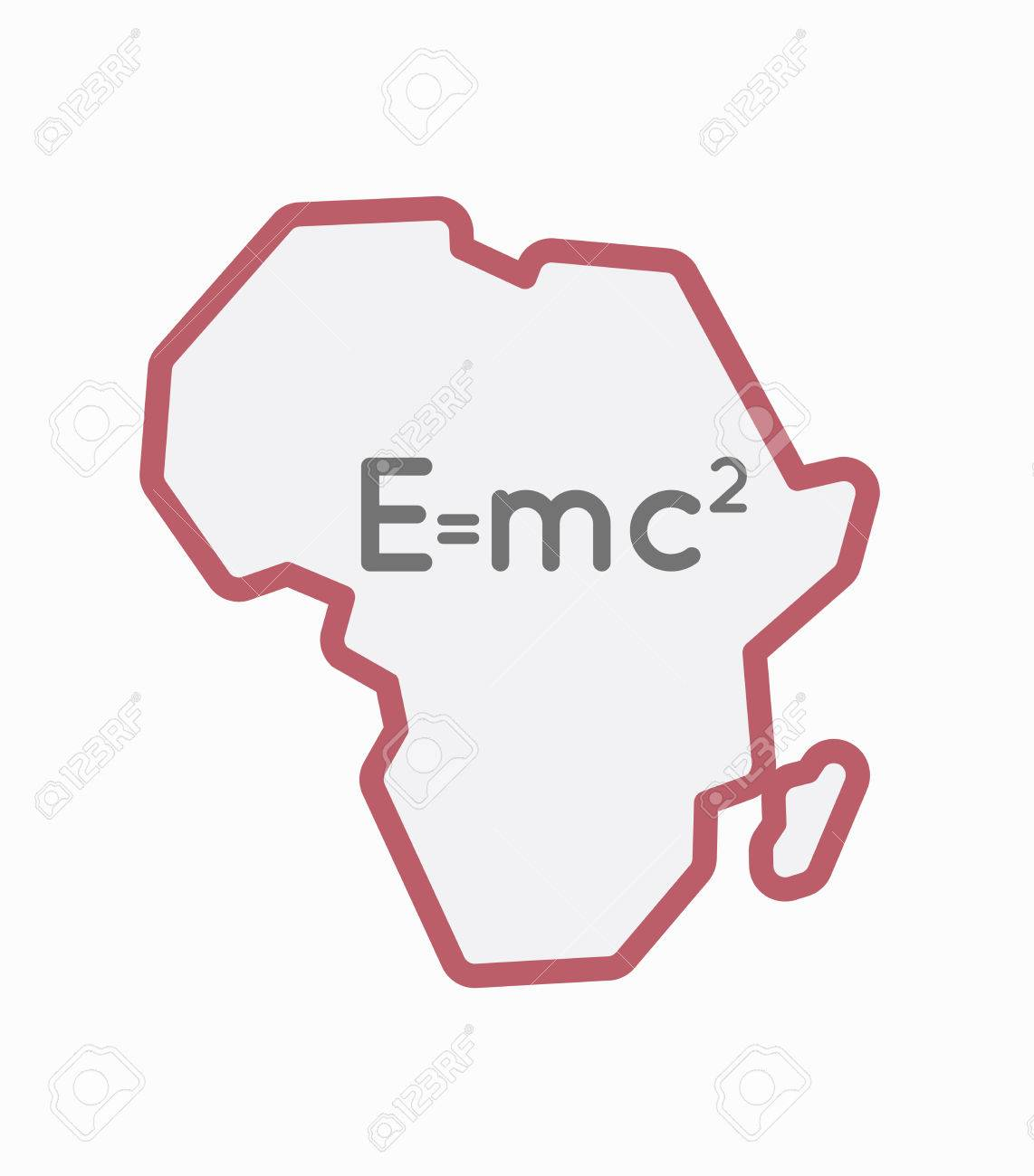 Illustration of an isolated line art africa continent map with illustration of an isolated line art africa continent map with the theory of relativity formula stock thecheapjerseys Images