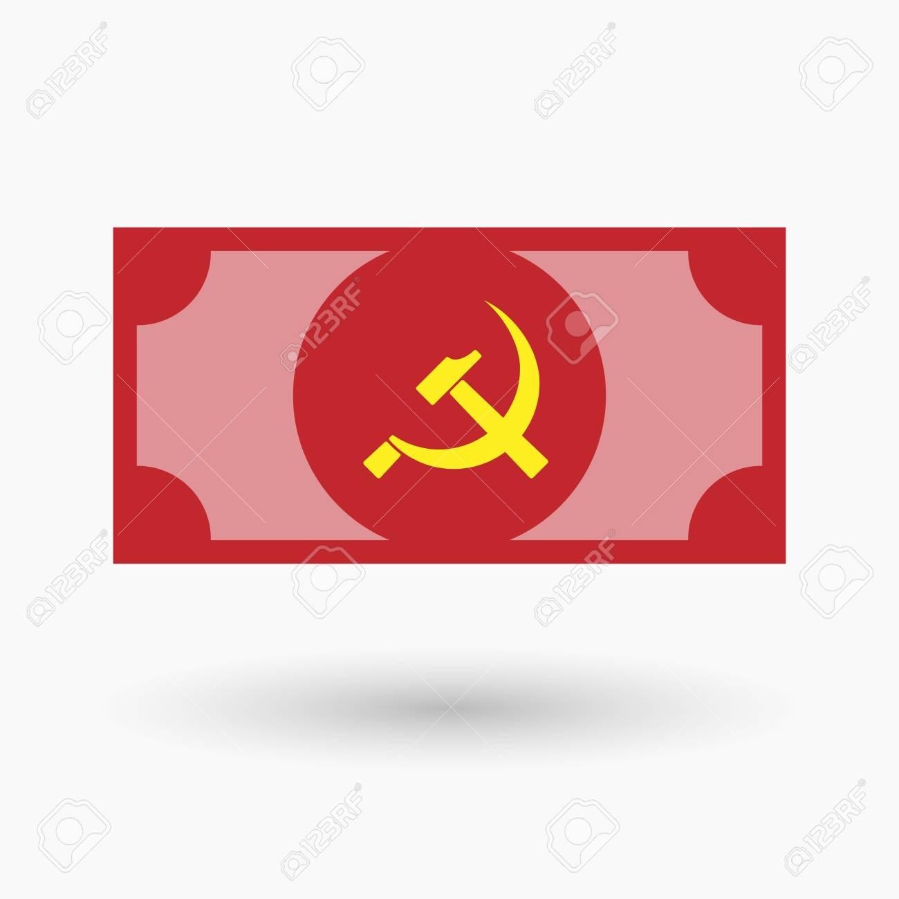 Illustration Of An Isolated Bank Note With The Communist Symbol