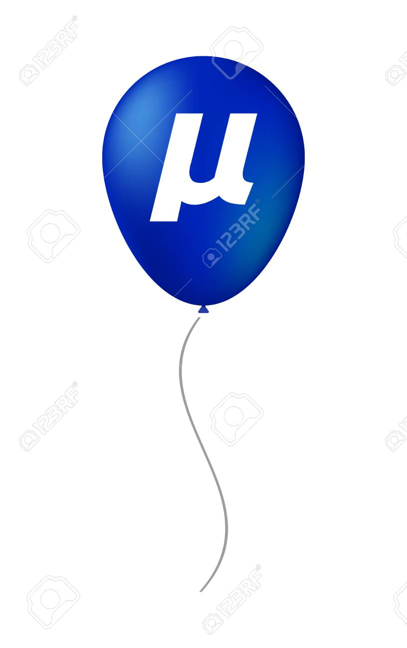 Illustration Of An Isolated Air Balloon With A Micro Sign Mu