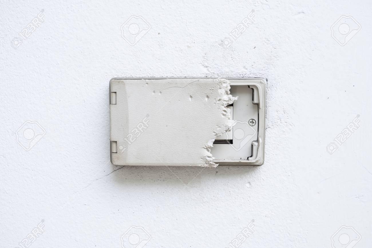 Electric Plug Cover Was Dog Bite Wall Cover Plug Socket Damage