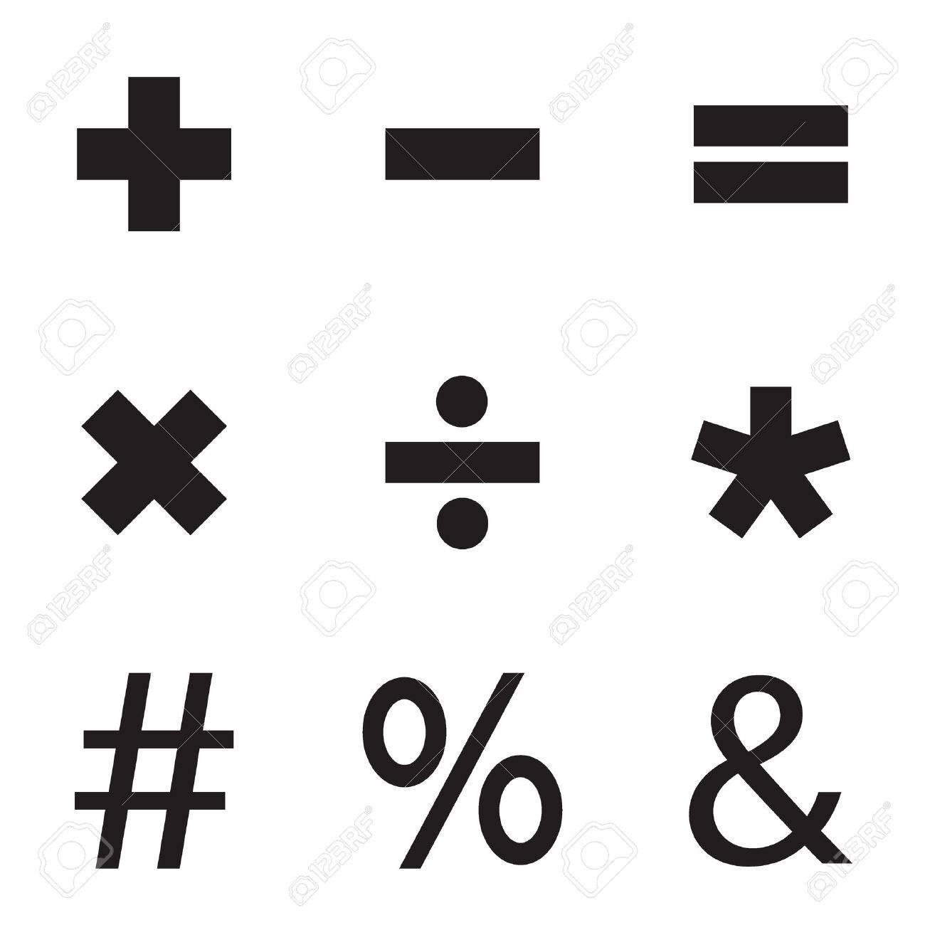 basic mathematical symbols. vector illustration. royalty free