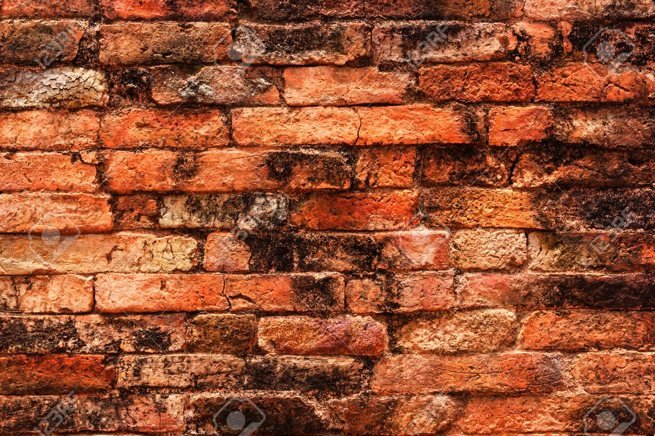 Old red brick wall texture  Old brick background