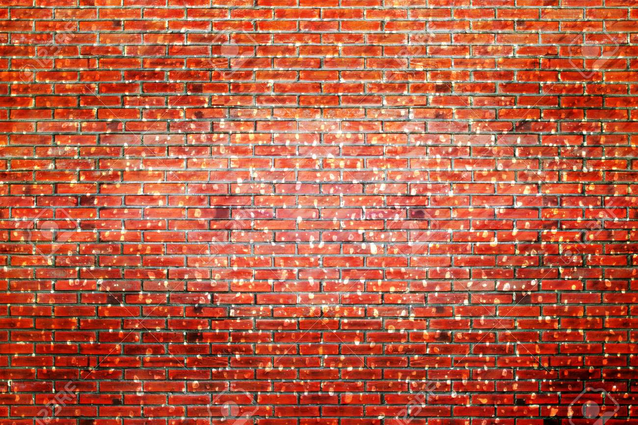 Rustic Old Brick Wall Texture Red Background Stock Photo