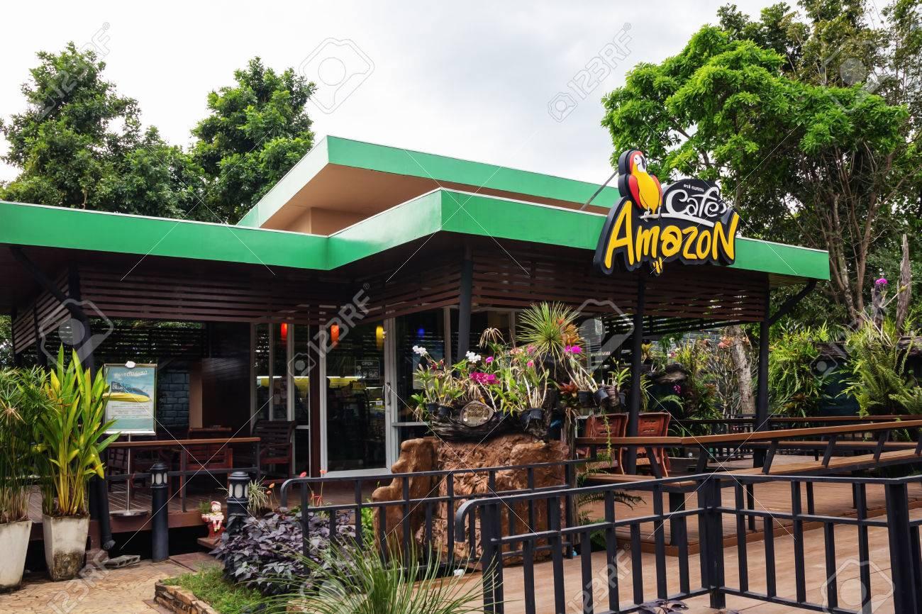 Prachin Buri, THAILAND - 15. Dezember: Cafe Amazon Getränke-Shop Bei ...