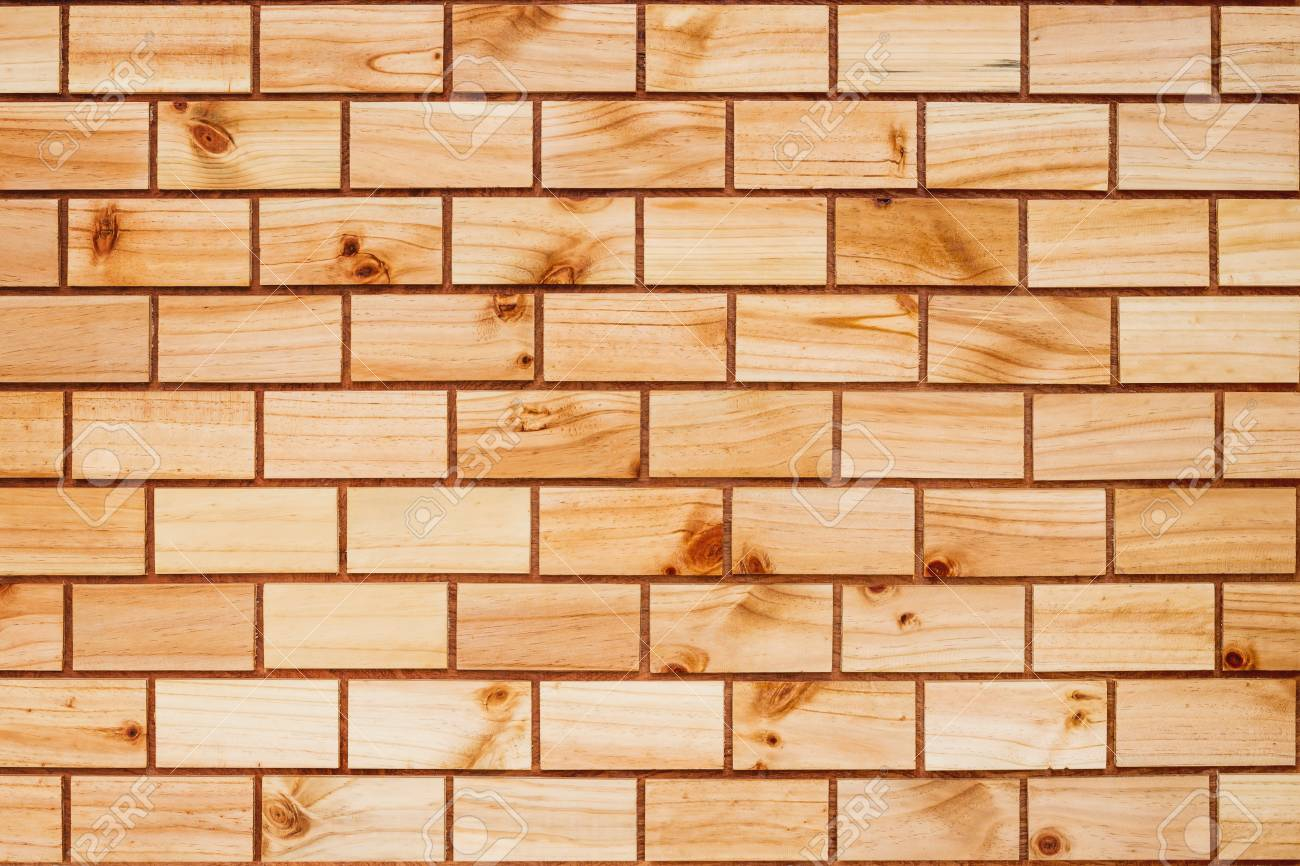 Backdrop of old wooden bricks wall texture