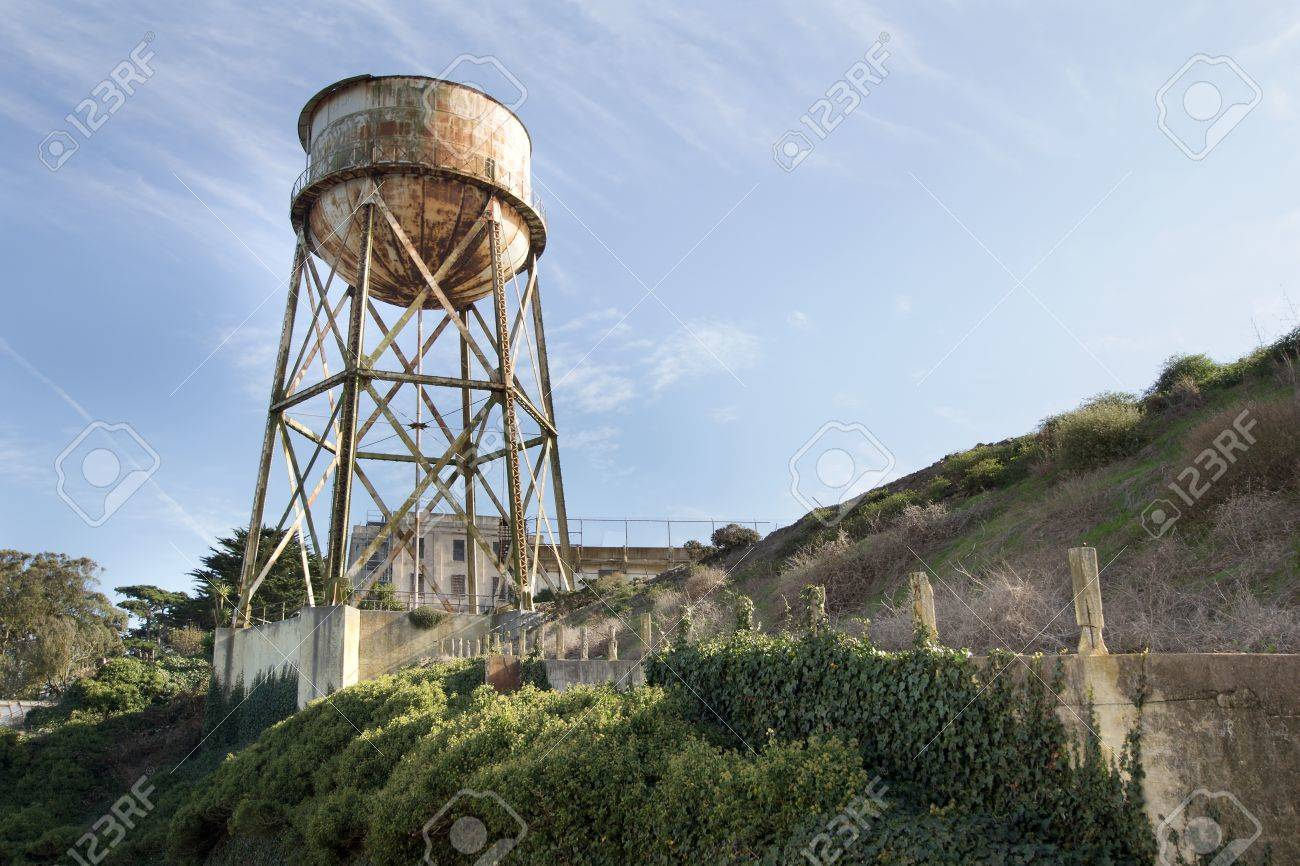 Water Tower at Alcatraz Island Federal Penitentiary Stock Photo - 11021384