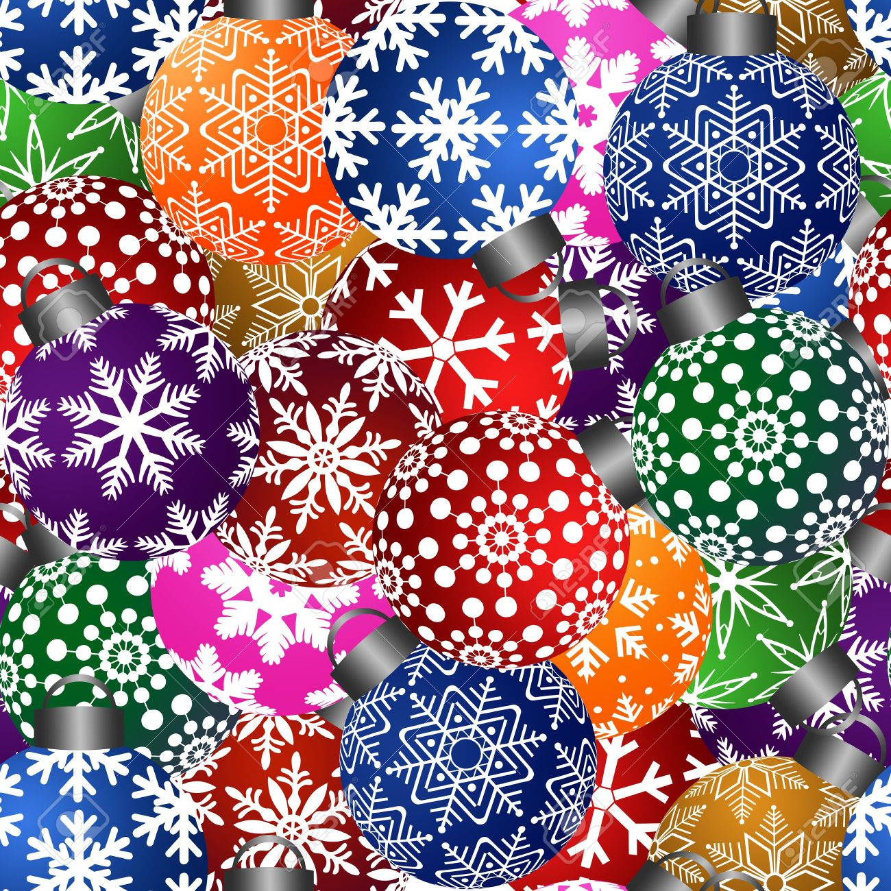 Colorful Christmas.Stock Illustration